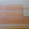10 mts x White with peach edging lace.20mm wide.