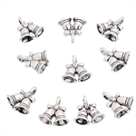 5 Silver Christmas Jingle Bells