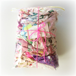 Pink/ Purple Designer Fabric Scrap Bag - Jennifer Paganelli, Amy Butler
