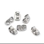 50 x Silver Tone Earring Back