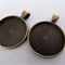 10 x Copper 25mm pendant trays