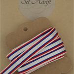 Vintage Patriotic Red White and Blue Ribbon