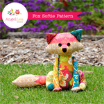 Fox Sewing Pattern PDF Patchwork Fox Softie Stuffed Animal Pattern
