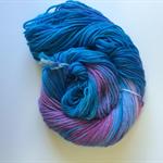 Hand dyed extra fine merino nylon blend yarn 5ply yarn Hydrangea