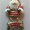 1 Charm Gold Finished Santa with Merry Xmas