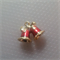 1 Charm Gold Finished Xmas Bells with Bow