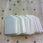 100 White Gift Tags