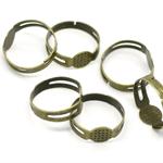10 Bronze Tone Adjustable Rings