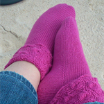 Layna Anklet socks - hand knitting pattern