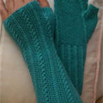Kallai Fingerless Mitts Hand Knit Pattern