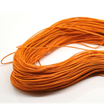 10mts Orange Waxed Cotton Necklace Cord 1mm