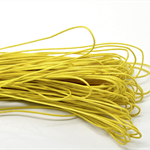 10mts Lemon Yellow Waxed Cotton Necklace Cord 1mm