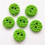 8 Lime green Buttons medium size handmade