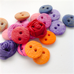 19 small handmade Buttons assorted