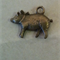 Vintage bronze tone 2 pig