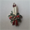 1 Charm Xmas Candles with Holly and Bow