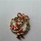 1 Charm Xmas Wreath With Santa