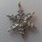 1 Charm Xmas Snowflake Silver Six point