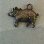 Vintage bronze tone 2 pig Great for any Craft idea