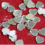 20 x 10mm stainless steel heart tags blank tags stamping engraving