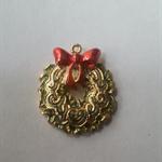 1 Charm Xmas Wreath with bow