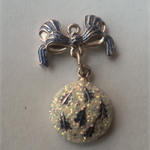 1 Charm Xmas Ornament with bow