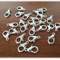 100 pcs lobster claw clasps Silver color 14mm x 8mm, hole 1.8mm high quality