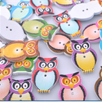 20 wooden Owl buttons