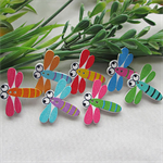 20 wooden Dragonfly buttons