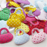 20 Padded dot fabric Bag sewing Appliques