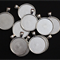 10x 30mm Silver Plate Round Pendant Trays