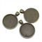 10 x 30mm Round Antique Bronze Pendant Settings