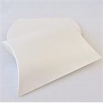10 x Pearl White Pillow Boxes (12cm x 10cm x 3cm)