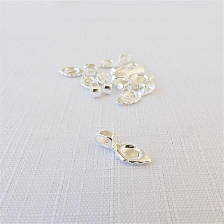 10 x Silver Glue On Bails (15mm x 6mm)