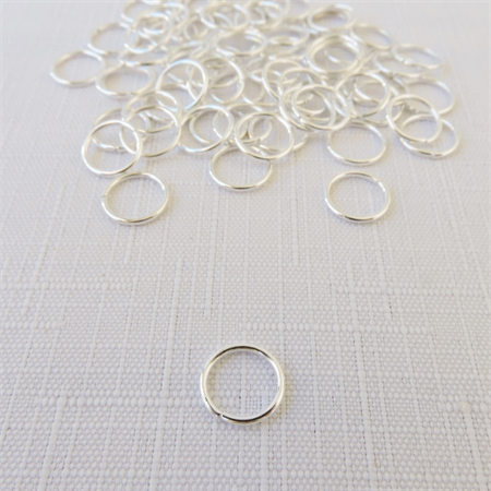 50 x Silver Jump Rings (10mm)