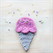 crochet icecream | applique | motif