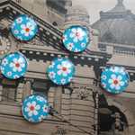 10pcs 12mm Handmade Glass Cabochons