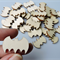10 x Wooden Bat Shape Embellishments