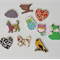 Wooden Embellishment Sample Pack Includes 10 Pieces