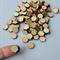 10 x wooden small hexagon tiles shapes