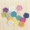 crochet mini flowers | 5 pack | choose your colours | applique motif