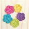 crochet mini flowers | 5 pack | spring burst | applique motif