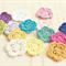 crochet mini flowers | 10 pack | choose your colours | applique motif