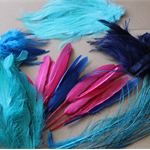 Assorted Aqua and pink Feathers  50+ feathers great for millinery projects