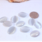 10 Pearl White Silver Cats Eye Cabochons 18x13mm - perfect for earrings