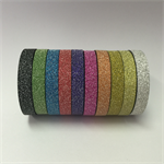 WASHI TAPE  THIN SKINNY 6MM GLITTER TAPE - 10 ROLL SET FREE POST