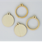 2 x wooden round pendant frames - 4 pieces