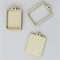 2 x wooden rectangular pendant frames - 4 pieces