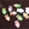 20x Owl Printed Buttons wood buttons for sewing scrapbooking