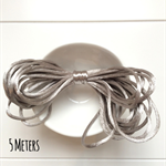 5 Meters Satin Nylon Cord -Silver